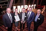 MBL accepts award for Global Impact, ambition and world class capability.