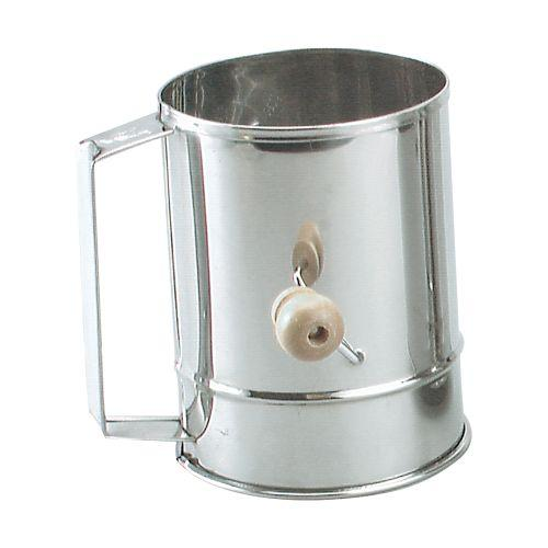 FLOUR SIFTER S/S 5CUP CRANK HDL