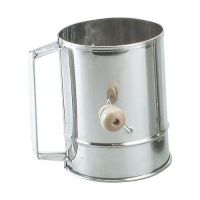 FLOUR SIFTER S/S 5CUP CRANK HDL - Click for more info