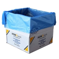 LINER LDPE BLUE 640X380X640X50UM (300) - Click for more info