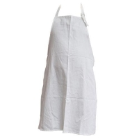 APRON DRILL BIB WHITE POLY COTTON - Click for more info