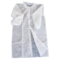 COAT DISP WHITE - WITH VELCRO (100) - Click for more info