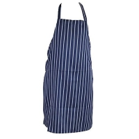 APRON P/V GOURMET BIB BLUE/WHITE - Click for more info
