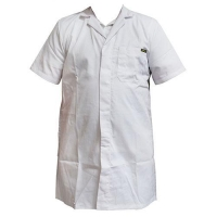 COAT WHITE S/FRONT 107(S7) (DNS) - Click for more info