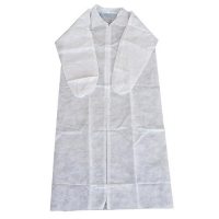 COAT DISP N/WOVEN WHT 3XL (50PCE) VELCRO - Click for more info