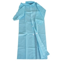 COAT DISP N/WOVEN BLUE X/L (50PCE)VELCRO - Click for more info
