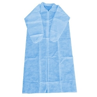 COAT DISP NON WOVEN BLUE SML (50PCE) ZIP - Click for more info