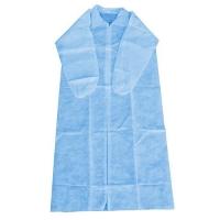 COAT DISP NON WOVEN BLUE X/L (50PCE) ZIP - Click for more info
