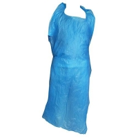 APRON HDPE DISP BLUE (100) - Click for more info