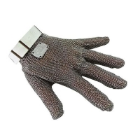 GLOVE MESH 5FINGER SMALL WHITE BAND - Click for more info