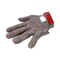 GLOVE MESH 5FINGER MEDIUM RED BAND - Click for more info