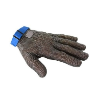 GLOVE MESH 5FINGER LARGE BLUE BAND - Click for more info