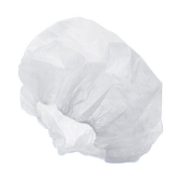 CAP CRIMPED DISPOSABLE WHITE (100) - Click for more info
