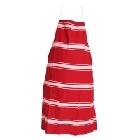 APRON COTTON BIB RED STRIPED - Click for more info
