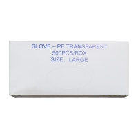 GLOVE - PE TRANSPARENT LARGE (500) - Click for more info