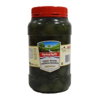 GHERKINS SLICED SWEET SPICED 2.2KG (DNS) - Click for more info