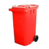 BIN WHEELIE COMPLETE RED 120LT (DNS) - Click for more info