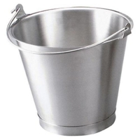 BUCKET H/DUTY S/S 13LT - 18/10 (DNS) - Click for more info