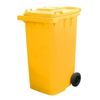 BIN WHEELIE YELLOW 120LT (DNS) - Click for more info