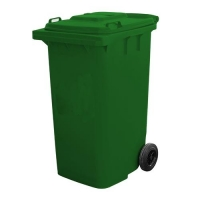 BIN WHEELIE GREEN COMPLETE 120LT (DNS) - Click for more info