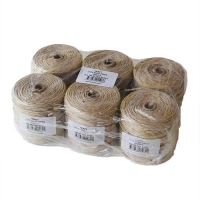 TWINE JUTE 3500TEX x140M X 6 PACK - Click for more info