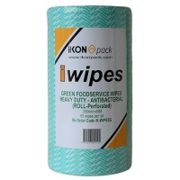 WIPES-H/DUTY ANTI BAC 53x30cm(45MT)GREEN - Click for more info