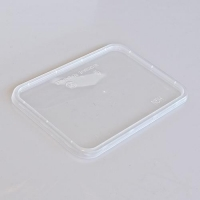 LID M/WAVE RECT CLEAR FLAT (50/SLEEVE) - Click for more info