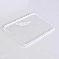 LID M/WAVE RECT CLEAR FLAT IKON (500) - Click for more info