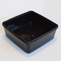CONTAINER SQUARE BLK TSQ5 2000ml 30/SLV - Click for more info