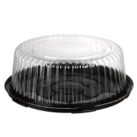 CAKE DOME 75MM MED ( LID & BASE) (100) - Click for more info