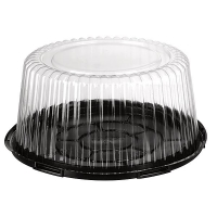 CAKE DOME 100MM LGE ( LID & BASE) (50) - Click for more info